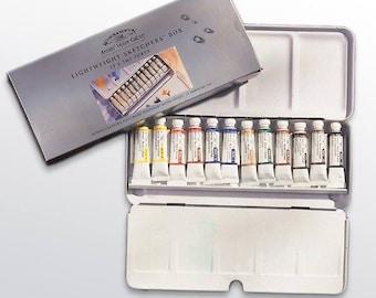 Winsor & Newton Artists' Water Colour Lightweight Sketchers' Box 12 x 5ml Tubes