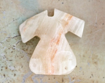 Tiny Marble Dress Paperweight - Miniature Craved Stone Figure