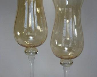 Glass Hurricane Candle Holders