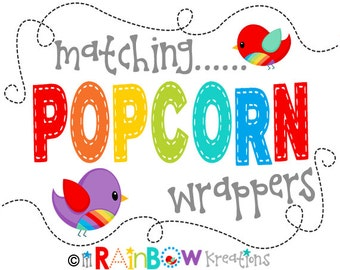 ADD ON: DIY - Printable Popcorn Wrapper To Match Your Theme