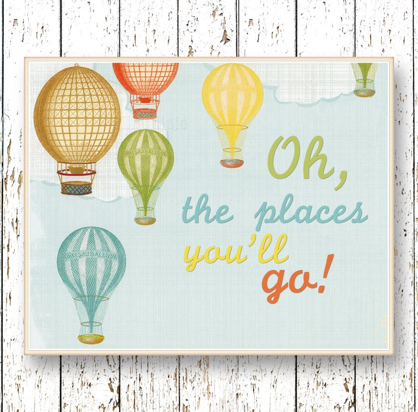 Oh The Places You Ll Go Dr Seuss Hot Air Balloon Kids