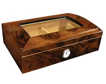 Personalized Humidor, The Addison 40 Cigar Glass Dome