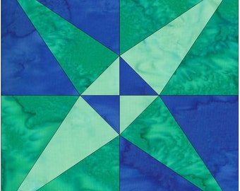 Crossed Canoes Chain Paper Piece Foundation Quilting Block Pattern