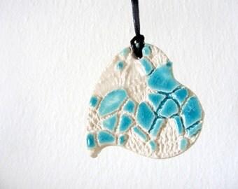 Heart pendant ceramic
