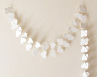 White paper heart garland , wedding decor, Party decoration, Wedding garland