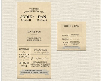 Old School Wedding Invitation