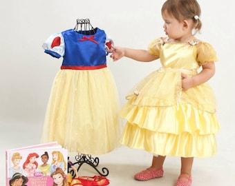 Princess Belle or Snow White Toddler Dress