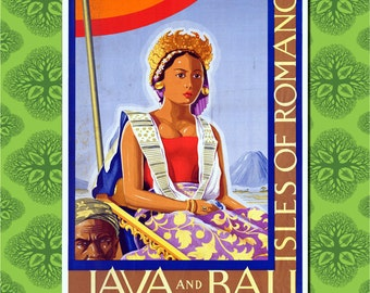 Bali Travel Poster Wall Decor (7 print sizes available)