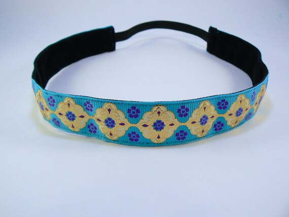 Indian inspired patterned non-slip headband for everyday and active wear
