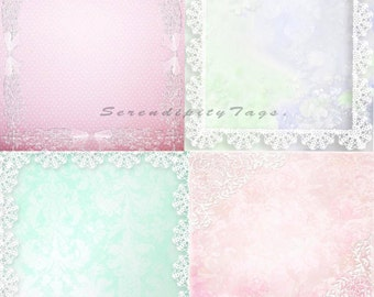 4 Lace Edged Papers