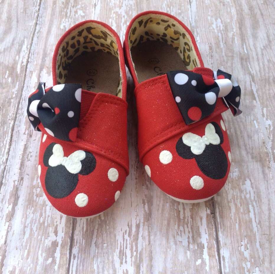 minnie mouse tom style shoes