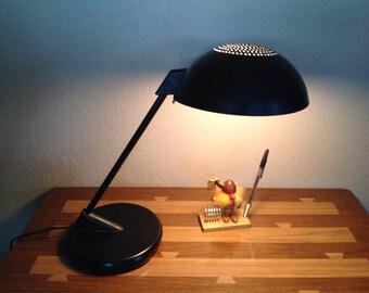 Vintage Leviton Angled Black Pendant Desk Lamp
