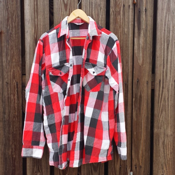 heavy vintage flannel shirt by winter run made in usa