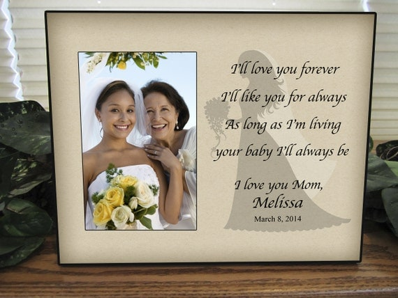 Mother Daughter Wedding Frame Bride Personalized Picture Frame