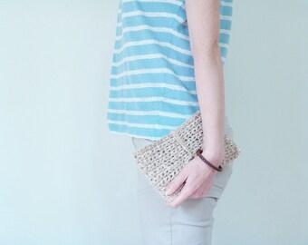 Tablet Case / Crochet / Jute Bag