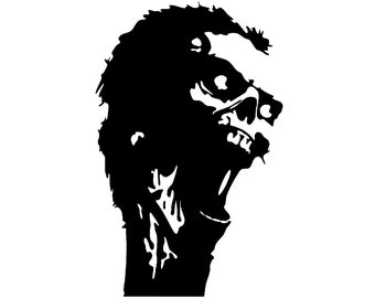 Zombie Skull Decal sticker day of the dead walkind dead wall art dia de los muertos car graphics room decor emo goth gothic metal AA40