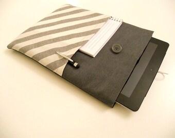 iPad Case Black ans Colored Sandwiches iPad Tablet Sleeve Galaxy Tab 3 Padded Pocket