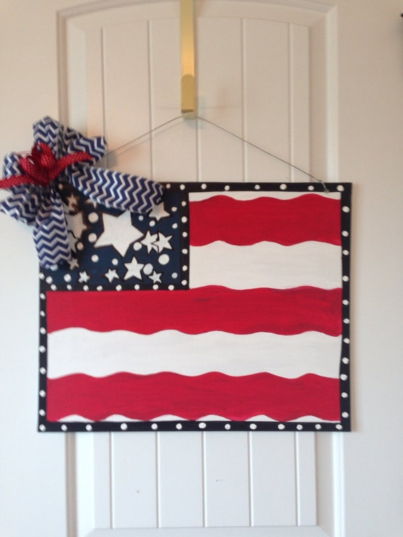 4th Of July American Flag Stars Red Indoor Flip Flops For Men