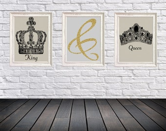 King and Queen set of 3 rints