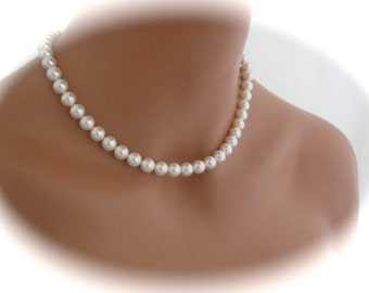 Bridal jewelry pearl necklace bridesmaid necklace Wedding Jewelry
