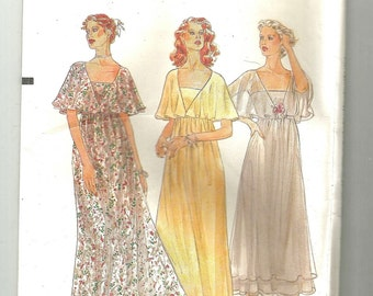 """Vogue 7343 vintage sewing pattern Evening dress 14 1/2 half size uncut caplet 37"""" bust High waisted dress with skirt front"""