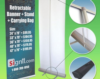 Retractable Banner Stand Perfect for Tradeshows and other Media Event