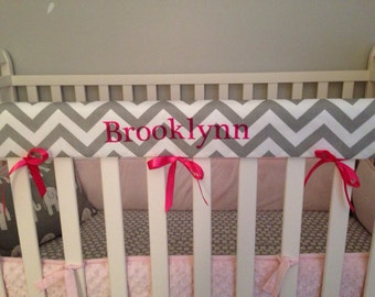 Crib Rail Teething Guard - Personalized