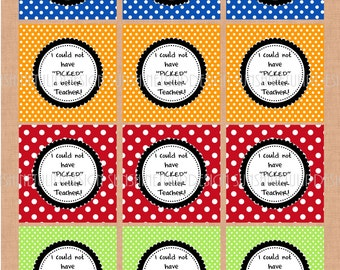 Teacher Appreciation Stickers Tags Labels and Cupcake Topper Printable DIY by SunshineTulipdesign