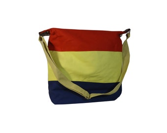 Multipurpose Canvas tote bag with water proof lining, bold colors