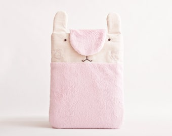 Fluffy iPad mini Case, Pink iPad cover, Bunny iPad Sleeve, Rabbit iPad Sleeve, Kobo Glo sleeve, ebook cover, Kobo Aura case