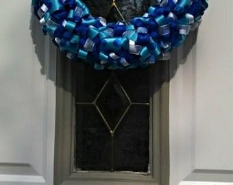Pool Blue Ribbon Wreath