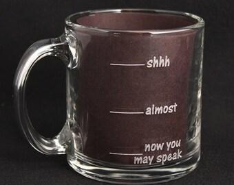 Laser Etched Coffee Mug
