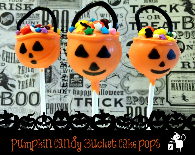 Featured listing image: HALLOWEEN cake pops. Pumpkin pale cake pops. Pumpkin cake pops. Halloween cake pops. Halloween treats. Halloween goodies. Halloween party