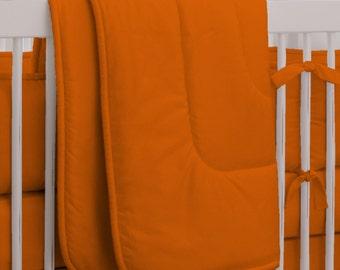 Neutral Baby Crib Bedding / Girl Baby Bedding / Boy Crib Bedding: Solid Orange Crib Comforter by Carousel Designs