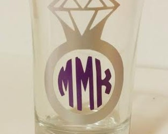 Monogrammed Rng Shotglass