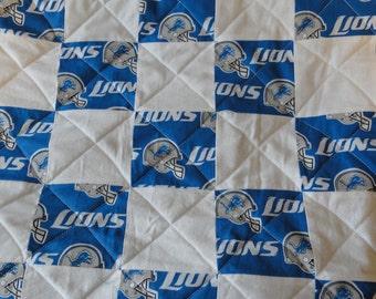 Detroit Lions full size quilt