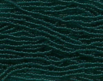 Seed Beads, 11/0, 6 String Hank, Mini Hanks, Emerald, Value, Glass Beads, 18 Grams, Appox. 1000 Beads, #0021
