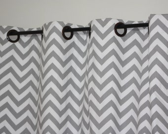 52 Quot Wide Bronze Grommet Curtains Storm Grey Custom