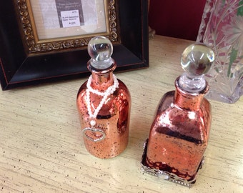 Vintage Style Pefume Bottles - Set of Two