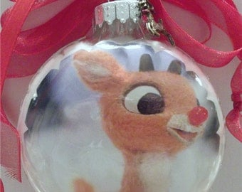 Rudolf inspired Tribute Christmas Ornament 1