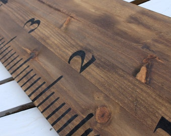 Large wood stain Ruler Growth Chart