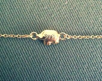 Vermeil Sterling Silver Elephant Bracelet