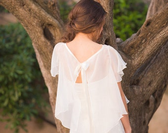 Bridal cape 100% silk  Made in France - KATE