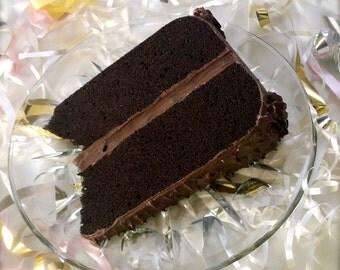 Jumbo Mailable Chocolate Cake Postcard