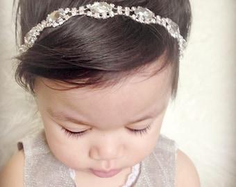Baby Headband, Bridal Headband,Rhinestone Headband,Photo Prop.