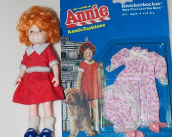 "Annie by Knickerbocker 6"" Doll with Nightgown Outfit 1982"