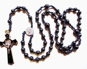 Full Size Hematite Rosary