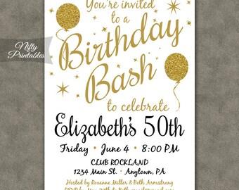 50th birthday invitation | Etsy
