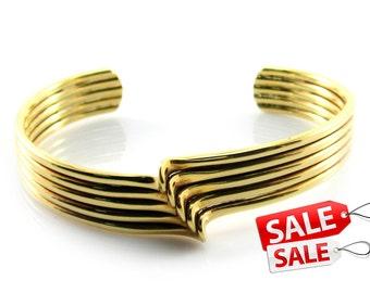 Gold Cuff Bracelet Gold Bracelet Cuff Gold Brass Cuff Bracelet Gold Brass Bracelet Cuff Gold Curve Bracelet Cuff Curve Cuff Bracelet 039