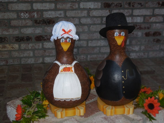 Decorating Ideas > Items Similar To Thanksgiving Turkey Gourd Decorations On Etsy ~ 070224_Thanksgiving Decorations On Etsy